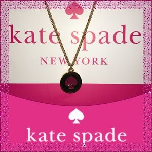 Kate Spade Sweetheart Pink Spot the Spade Necklace